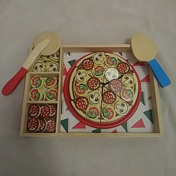 Melissa Doug Wooden Pizza Party